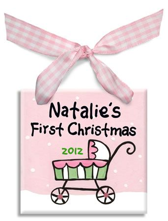 Girls Baby first Christmas ornament