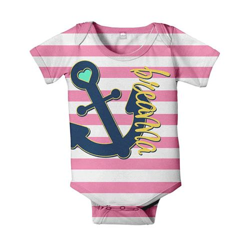 Personalized Pink Sailor Onesie