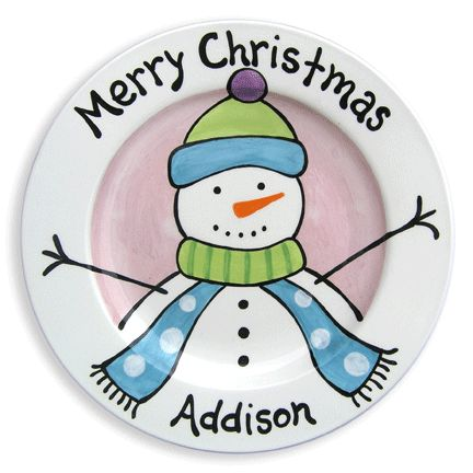 frosty friend girl kids plate