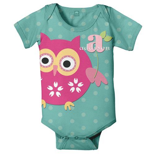 owl personalized snapsuit