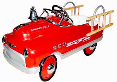 Fire Truck Pedal Car for Kids
