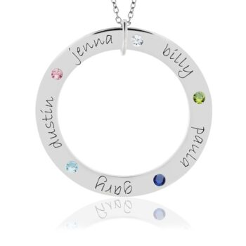 Posh Birthstone Loop Personalized Necklace