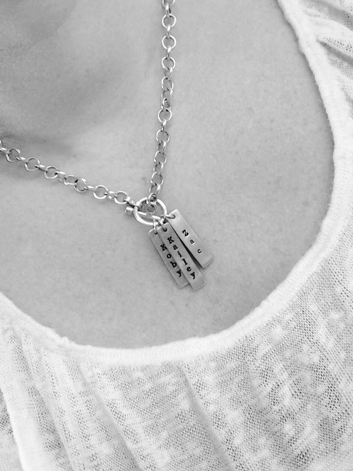 Personalized Tiffany Inspired Moms Necklace