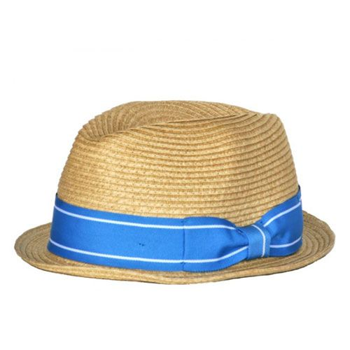 baby boy straw fedora hat