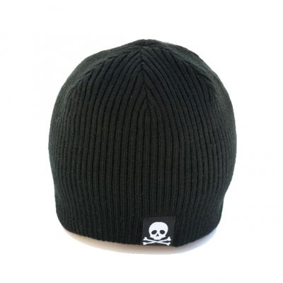 black reversible kids beanie