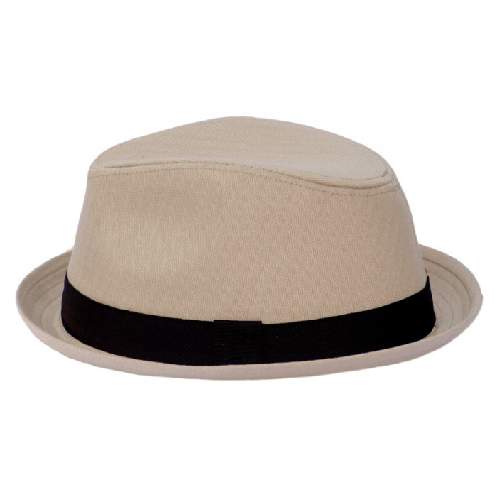 Tan fedora hat for Kids