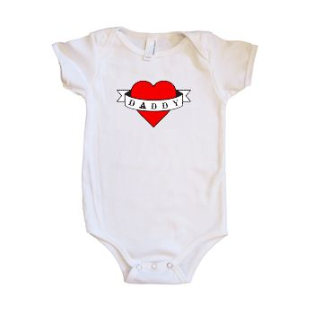 daddy tattoo infant and toddler shirts