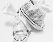 Bling baby converse shoes