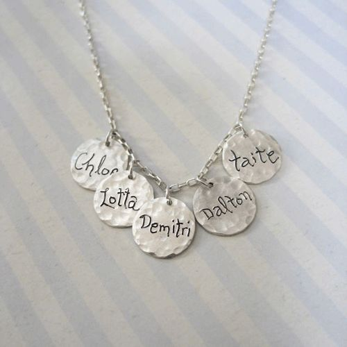 Multi Charm Sterling Silver Mom Necklace