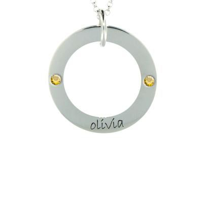 Wee Loop Personalized Necklace for Girls