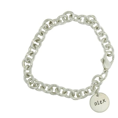 personalized sterling silver charm bracelet