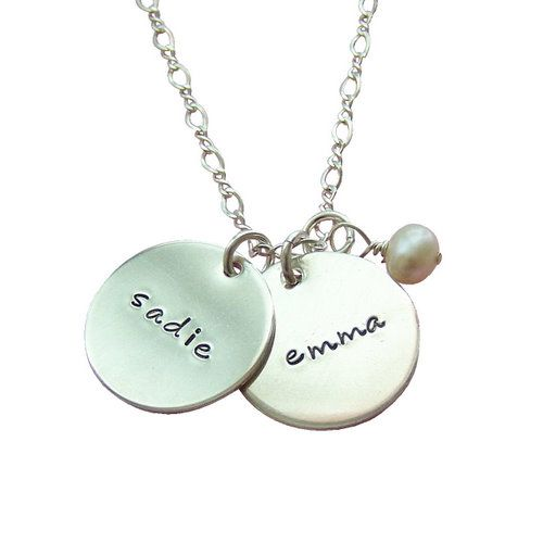 Personalized Charming Duo Silver Necklace