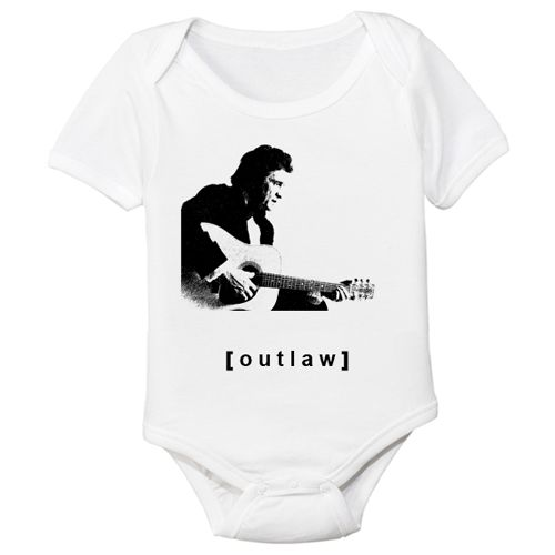 Johnny Cash Organic Onesie