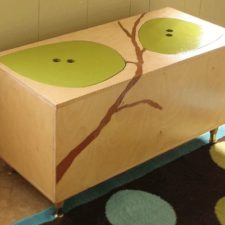 Handcrafted Wood Toy Box