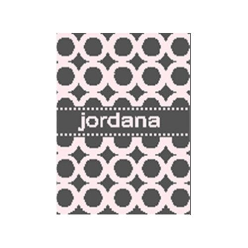 modern circles personalized blanket