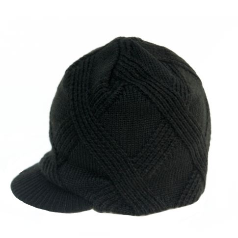 black beanie textured