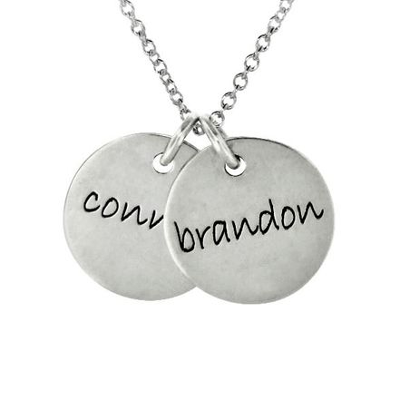 Two Disc Necklace for Mom