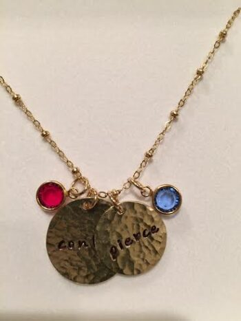 Charming duo gold moms necklace