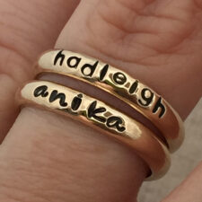Gold Personalized Rings